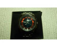 Red Ferrari Stainless Steel Analog Digita