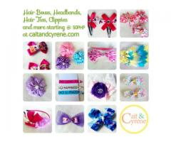 Hairbows, headbands, hair clips and hair ties For sale as low as 35PHP