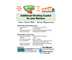 Additional working capital for business