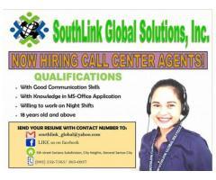 Urgent hiring! Call center Agents!!