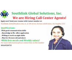 Immediate hiring for Call center Agents!