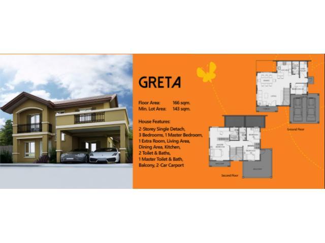 2-Storey Single Detach House and Lot for Sale in GenSan - Greta Model Camella Cerritos