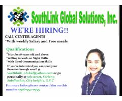 Call Center urgent hiring!